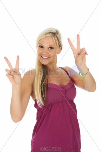 White Blonde Woman Png - Stock Photo of Smiling sexy blonde girl in pink dress flashing v ...