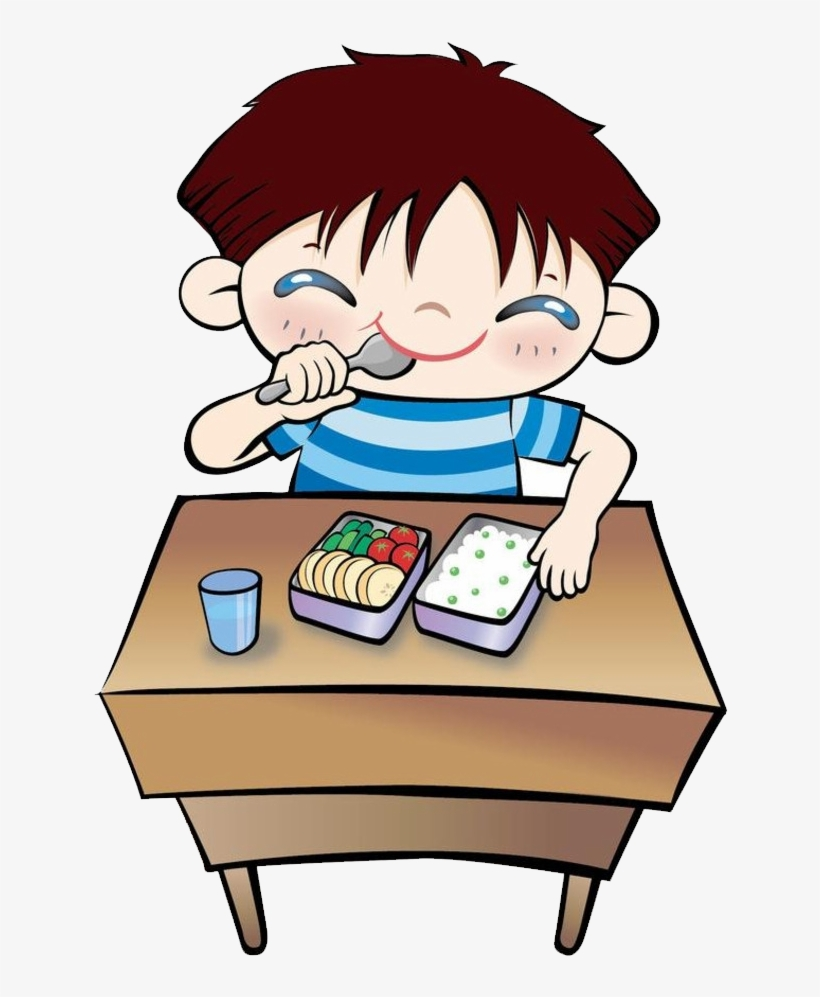 Student Eating Png - Student Eating Lunch Clip Art - Cartoon Image Of Students Eating ...