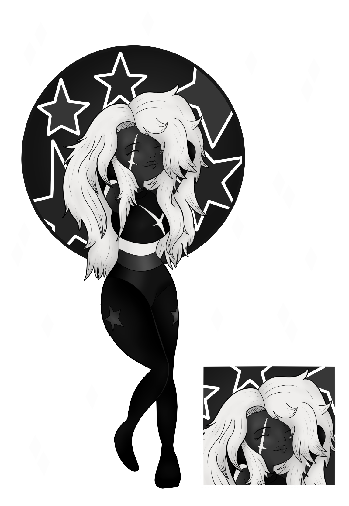 Black Star Diopside Png - SU Gem Commission: ''BlackStar Diopside'' by Japandaa on DeviantArt