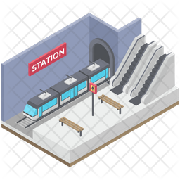 Subway Train Icon Of Isometric Style A Png Images Pngio