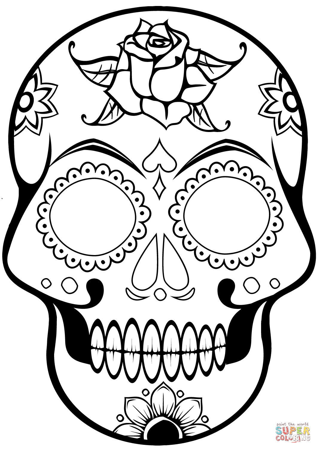 - Sugar Skull Coloring Book Freeintable Pa #2187762 - PNG Images - PNGio