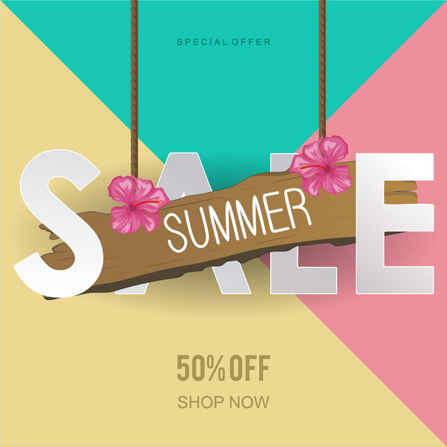 Colorful Banner Template Png - Summer Sale Punchy Pastel Colors Banner Template, Summer, Sale ...
