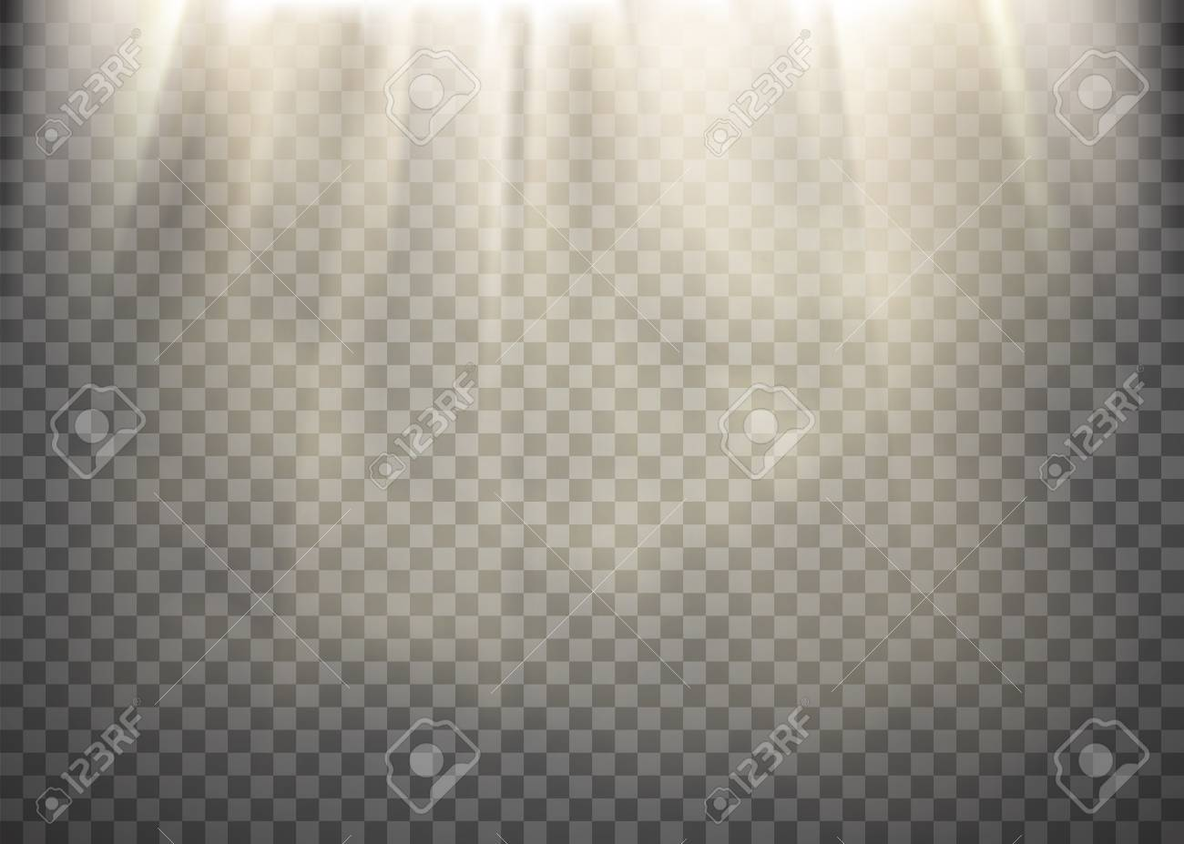 Light Rays Transparent - Sunlight On A Transparent Background. Light Rays Pattern. Stock ...