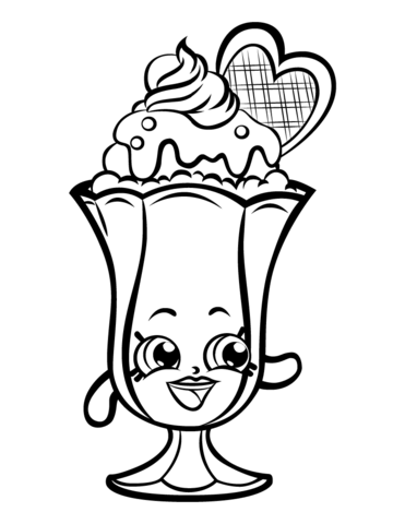 This is a photo of Shopkins Coloring Pages Printable with regard to heart
