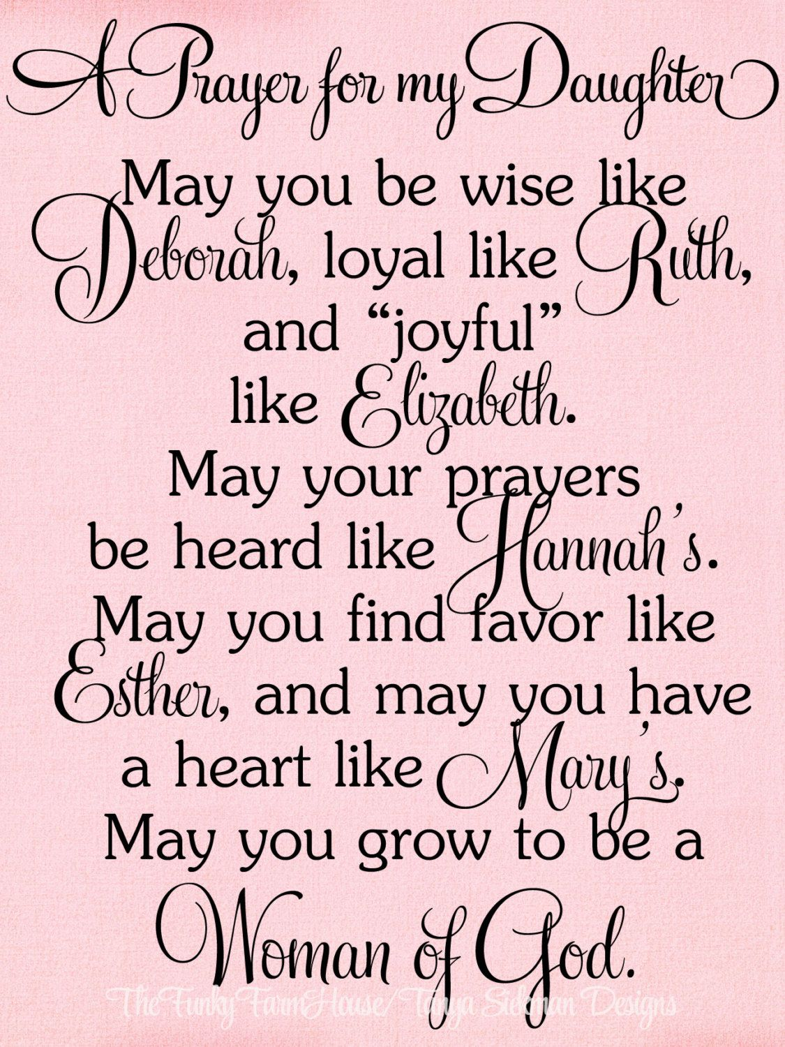 Happy Birthday Daughter Png - SVG, DXF & PNG - A Prayer for my Daughter   Prayers for my ...