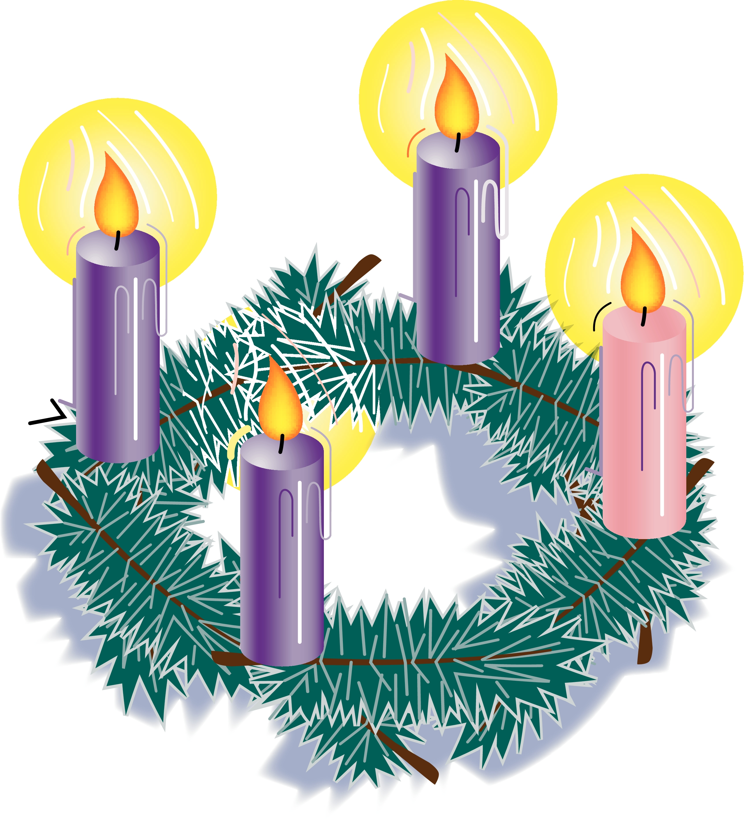 Advent transparent background. Png wreath clker free
