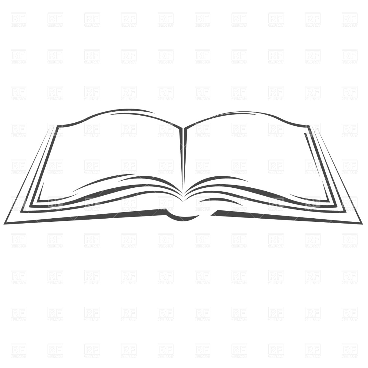 Open Book Vector - Symbolic open book Vector Image of Objects © prague #870 – RFclipart