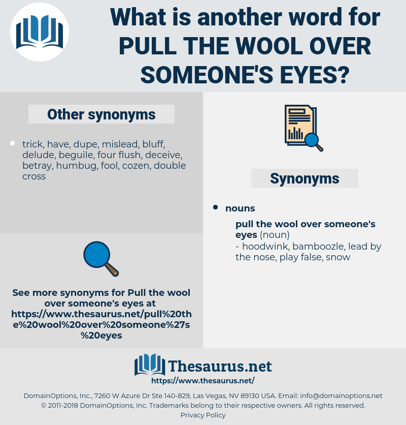 Wool Over Eyes Png - Synonyms for PULL THE WOOL OVER SOMEONE'S EYES - Thesaurus.net