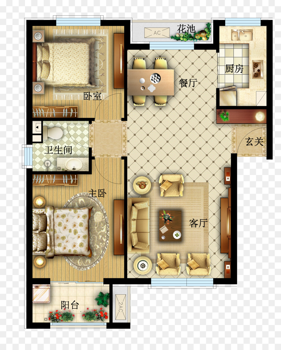 Png Table On Floor - Table Floor plan Furniture - Vector apartment layout png download ...