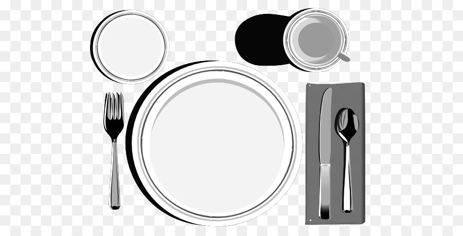 Table Setting Black And White Png - Table setting Knife Clip art - table png download - 600*458 - Free ...