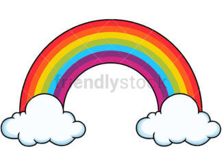 Cartoon clouds rainbow. Tall with png images