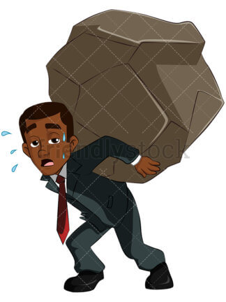 Man Carrying Heavy Load Png - tax Clipart - Cartoon Vector Images - FriendlyStock