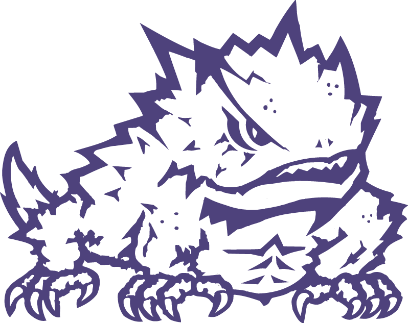 Horned Frog Png - TCU Horned Frogs Secondary Logo - NCAA Division I (s-t) (NCAA s-t ...