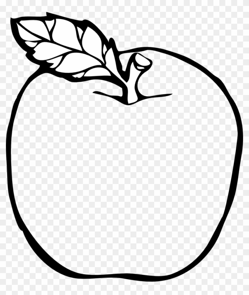Teacher Apple Outline Png Colouring Pa 1390383 Png Images Pngio