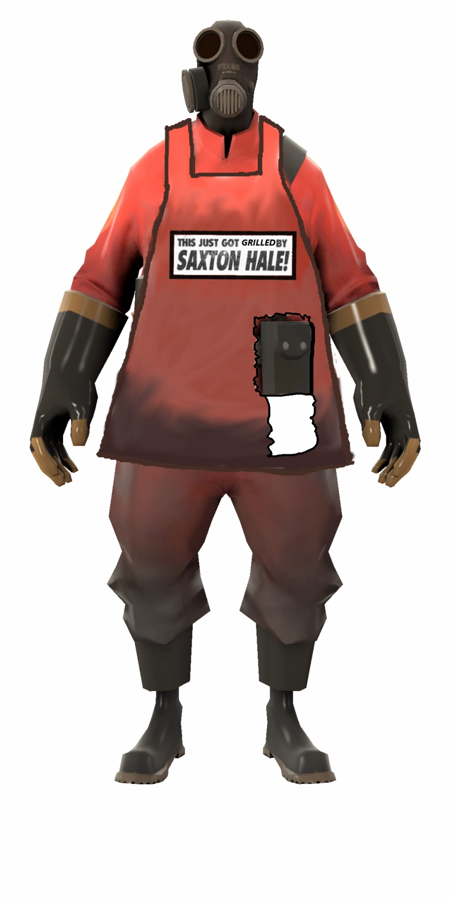 Tf Pyro Png - Team Fortress 2 Pyro - Tf2 Pyro White Background Free PNG Images ...