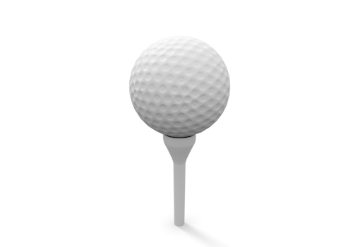 Golf Ball On Tee Png - Tee PNG Images - Free Png Library