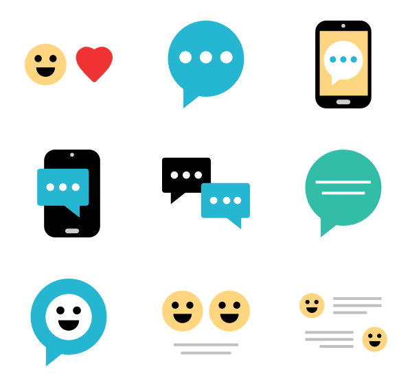 Text Messaging 25 Free Icons (SVG, EPS, #625233 - PNG Images
