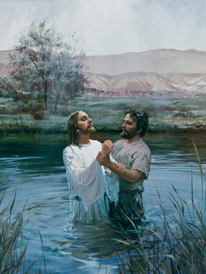 Jesus And John The Baptist Png - The Baptism of Jesus - John the Baptist baptizes our savior ...