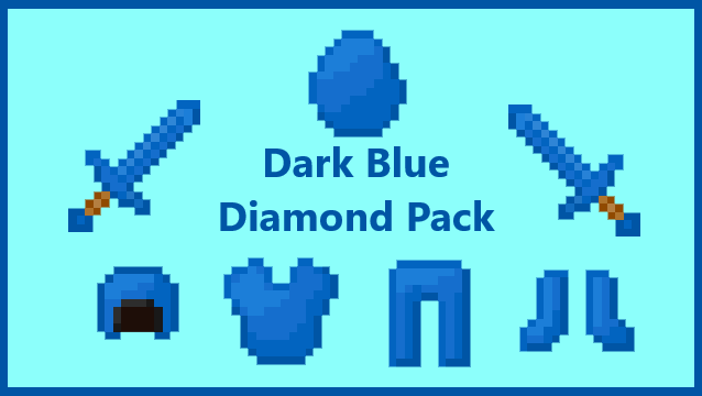 The Dark Blue Diamond Pvp Pack Minecraft 2062154 Png Images Pngio