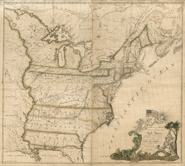 First Map Of America The First Map Of America Drawn In 1784 | #411276   PNG Images   PNGio