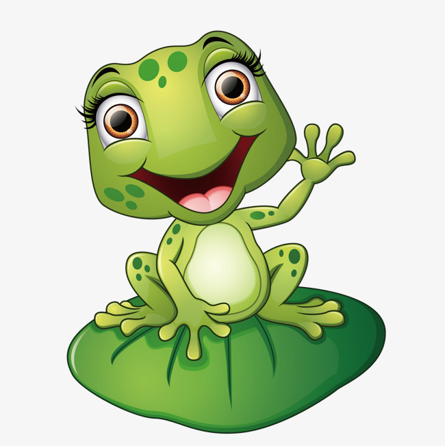 Frog Png - the frog on the lotus leaf, Green, Frog, Animal PNG and Vector