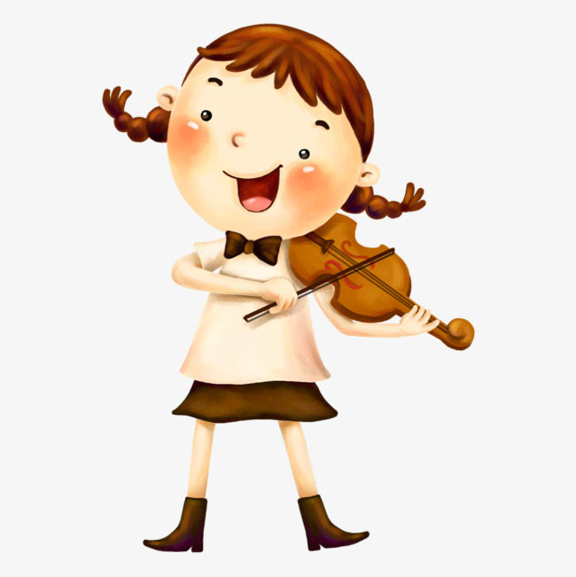 Cool Girl Violin Png - The Girl Playing The Violin, Girl, Violin, Cartoon PNG Image and ...