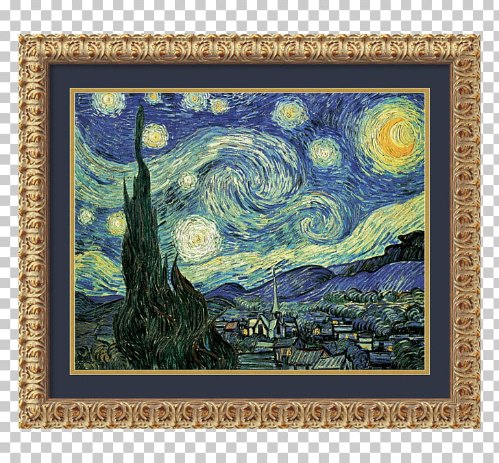 Road With Cypress And Star Png - The Starry Night Starry Night Over the Rhône Road with Cypress and ...