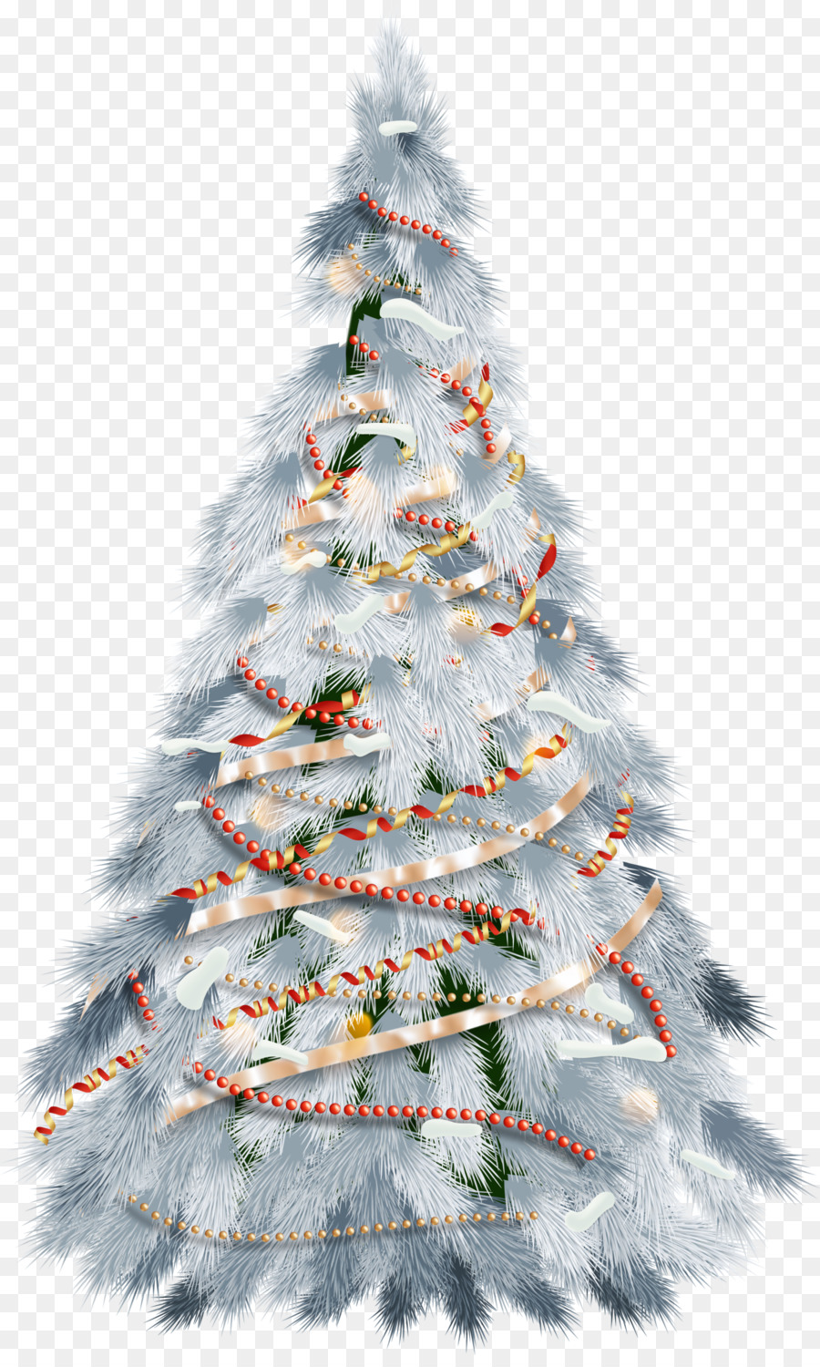 White Christmas Tree Png.The White Ribbon Christmas Tree Png Down 602282 Png