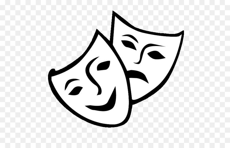 Drama Mask Png - Theatre Drama Mask Comedy Clip art - mask png download - 564*564 ...