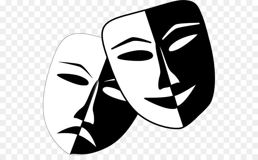 Drama Mask Png - Theatre Drama Mask Play Clip art - Theatre Masks png download ...
