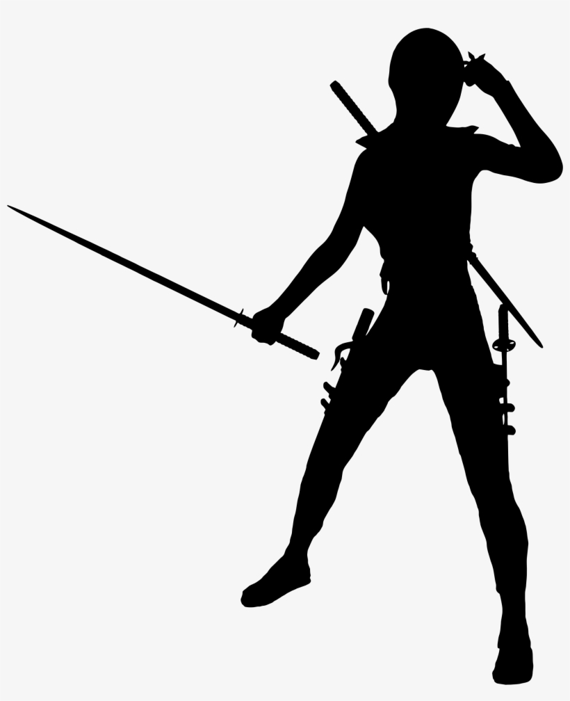 Female Ninja Png - This Free Icons Png Design Of Female Ninja Silhouette - Free ...