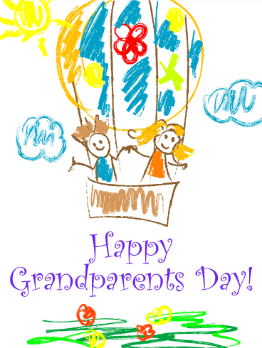 Grandmas Day Png Card - This joyful Grandparents Day card is just the ticket for families ...