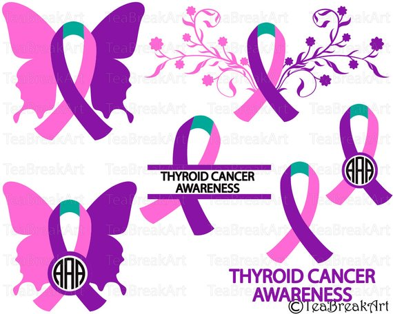 Thyroid Cancer Ribbon Awareness Cutting 155957 Png Images Pngio