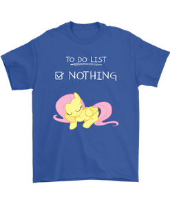Fluttershy 5png - To Do List Nothing Fluttershy My Little Pony Shirts - TeexTee Store