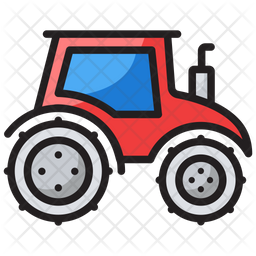 Tractor Outline Png - Tractor Icon of Colored Outline style - Available in SVG, PNG, EPS ...
