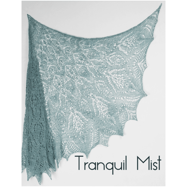 Gold Lace Shawl Png - Tranquil Mist Lace Shawl Kit - Stunning String Studio