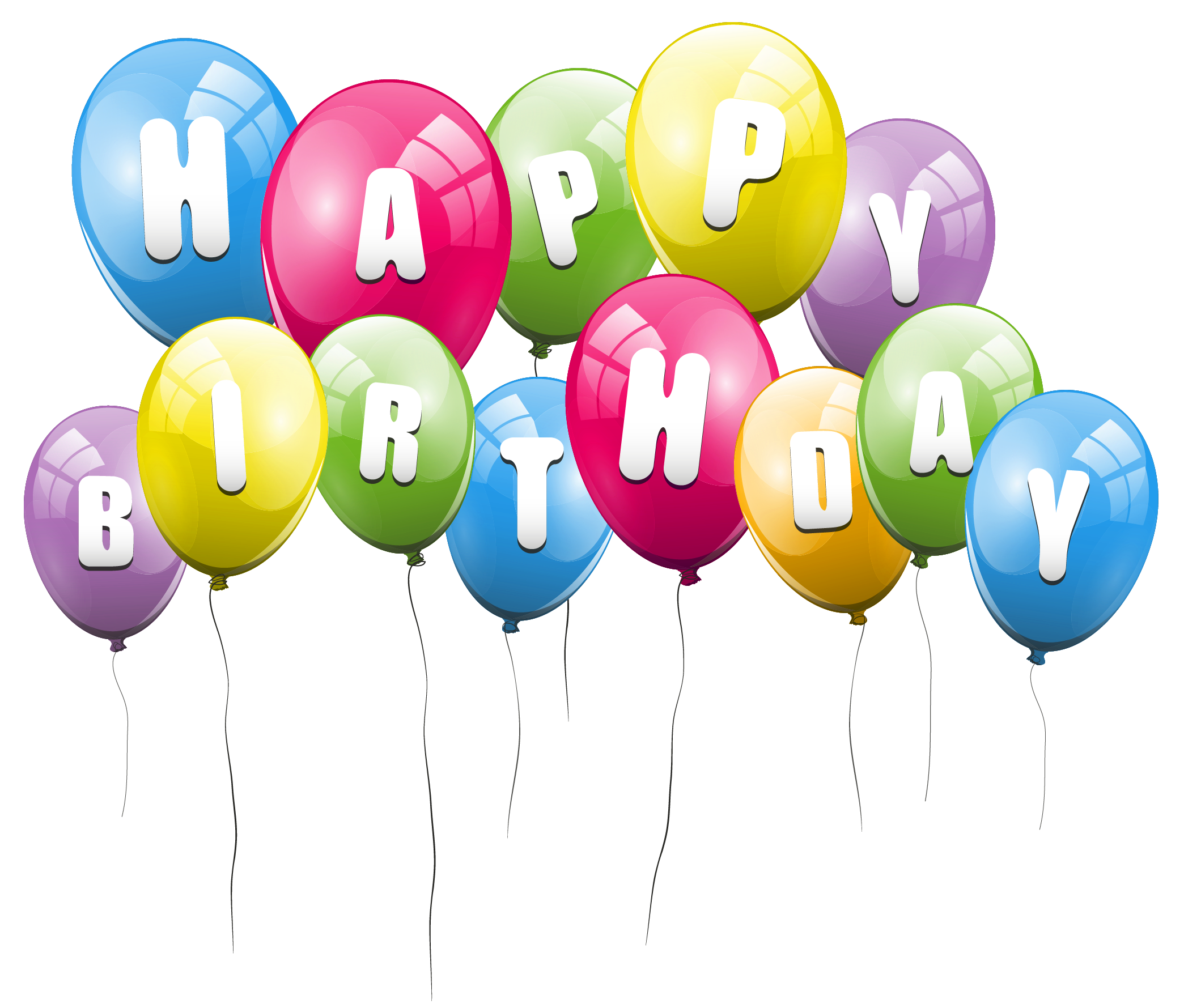 Happy Birthday Ballons Png - Transparent Balloons Happy Birthday PNG Picture Clipart | Gallery ...