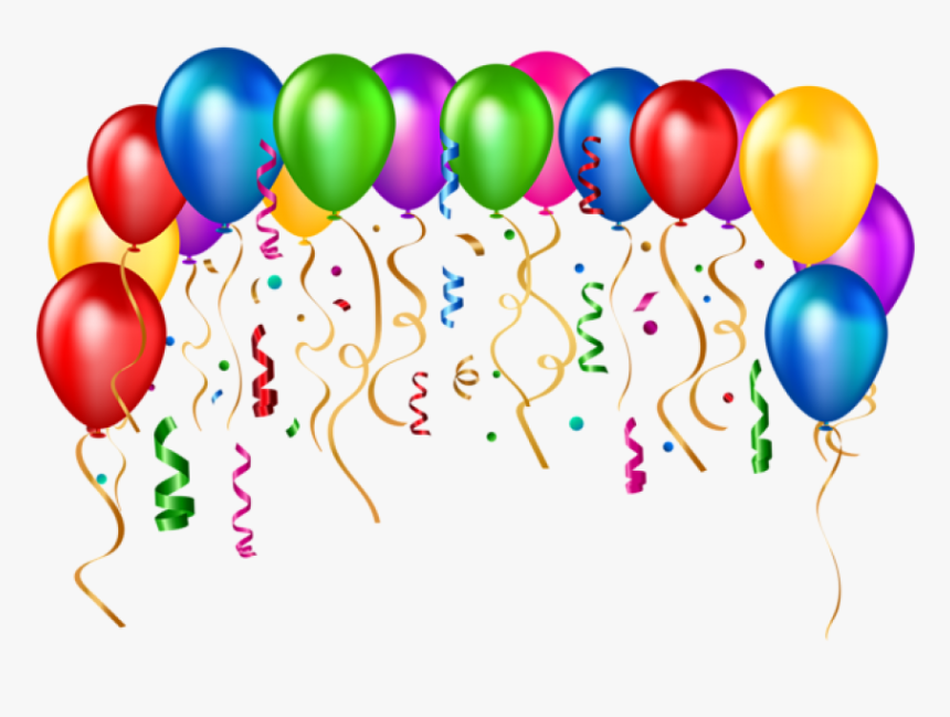 Happy Birthday Ballons Png - Transparent Baloon Clipart - Happy Birthday Balloons Png, Png ...
