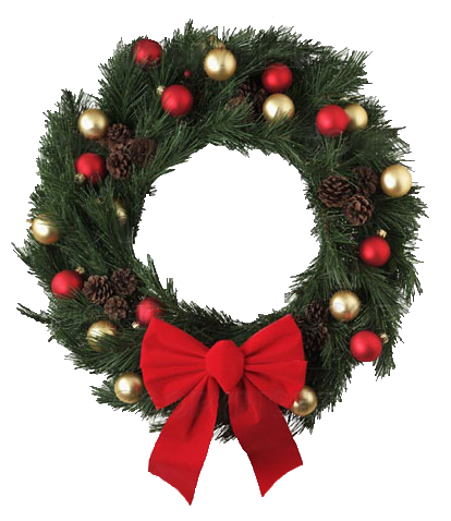 Transparent Christmas Wreath - Transparent Christmas Wreath with Red Bow PNG Picture #39761 ...