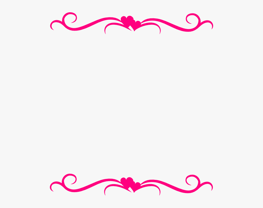 Heart Page Border Png - Transparent Hearts Border Clipart - Page Border Top And Bottom, HD ...