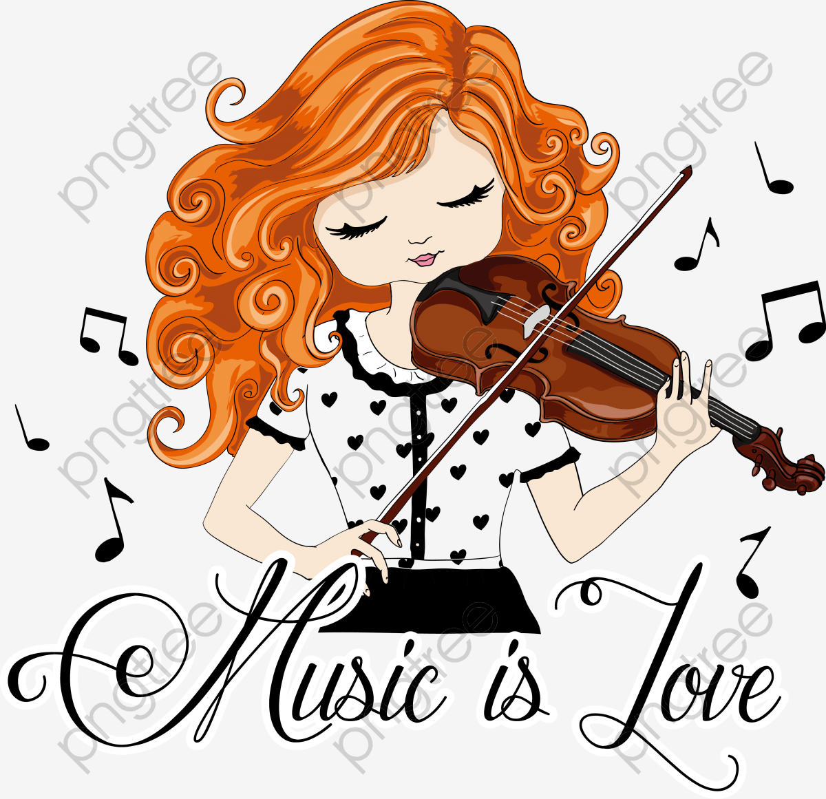 Cool Girl Violin Png - Transparent little girl playing the violin PNG Format Image With ...