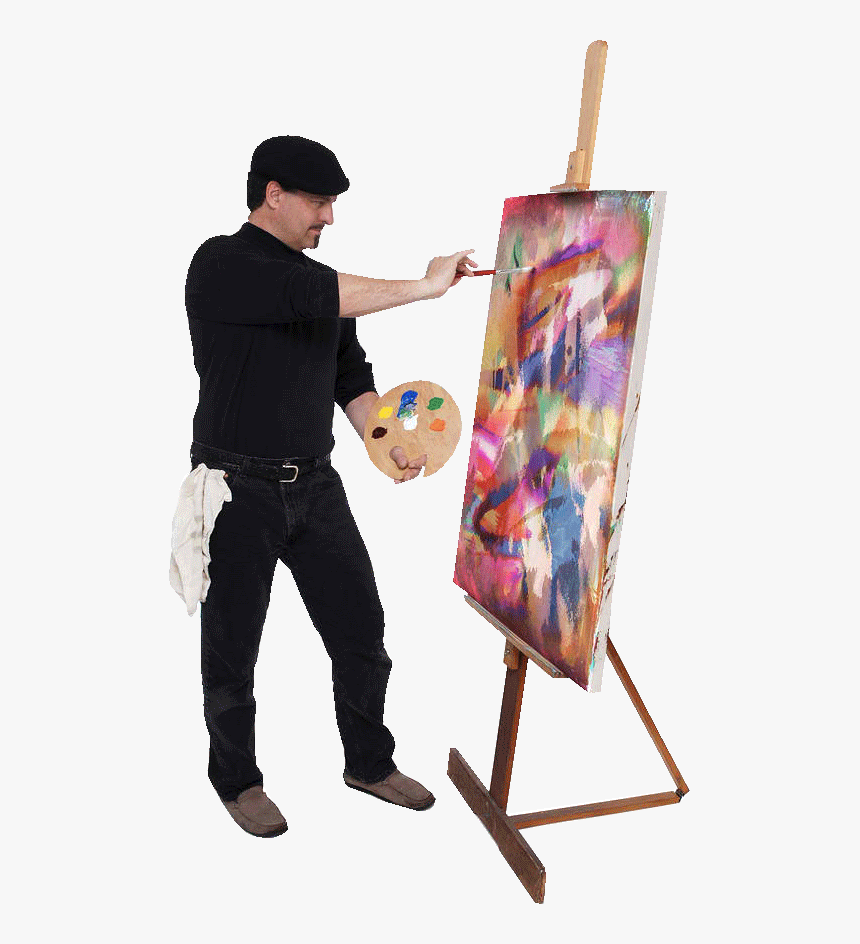 Portable Artist Easel Png - Transparent Painting Easel Clipart - Artist Painting On Canvas, HD ...