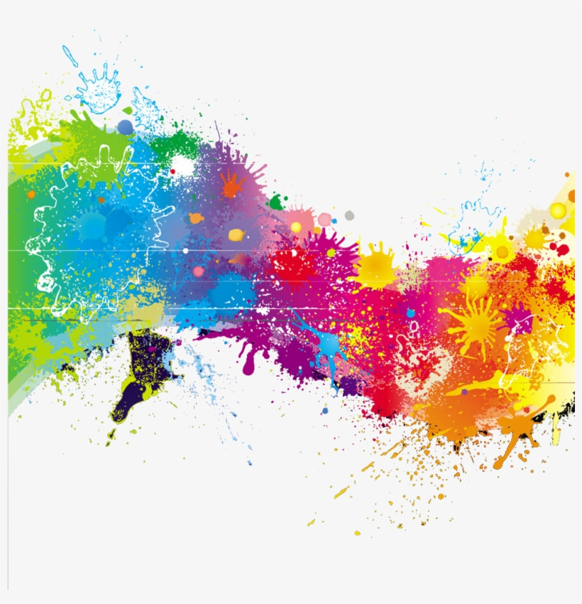 Transparent Paint Splatter - Transparent Stock Splash Transparent Rainbow Paint - Rainbow Paint ...