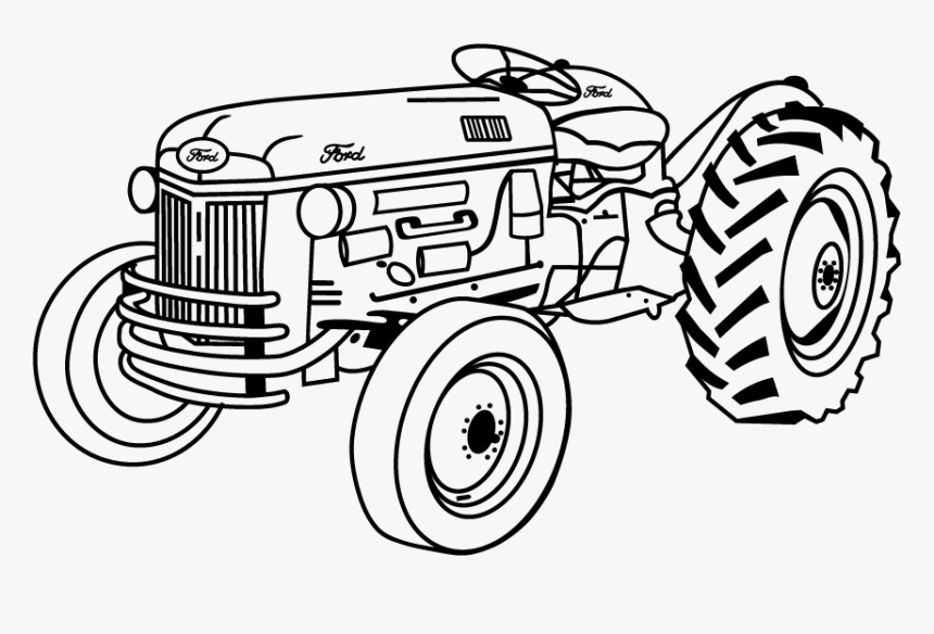 Tractor Drawing Png - Transparent Tractor Silhouette Png - Tractor Drawing, Png Download ...