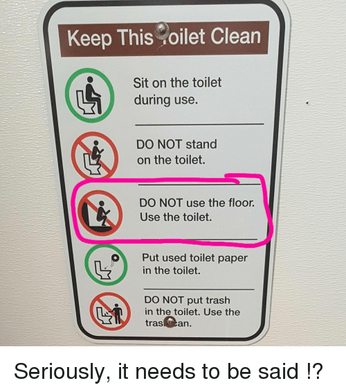 Keep The Toilet Clean Png & Transparent Images #5487