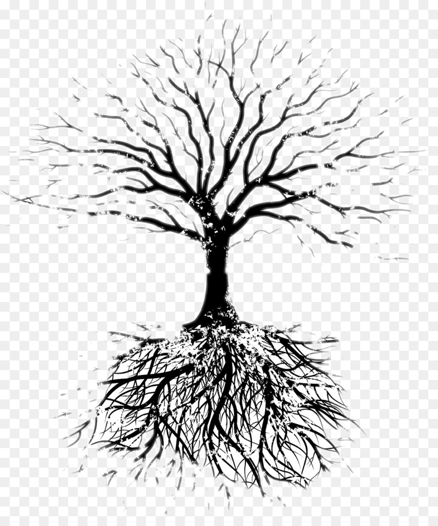 Free Black And White Png Tree With Roots Amp Free Black And