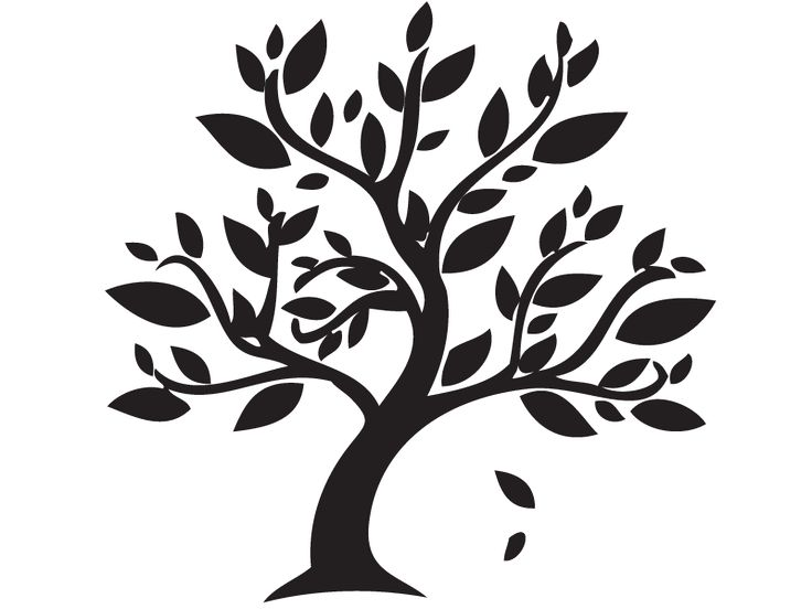 Falling Leaves Tree Png Silhouette Amp Free Falling Leaves