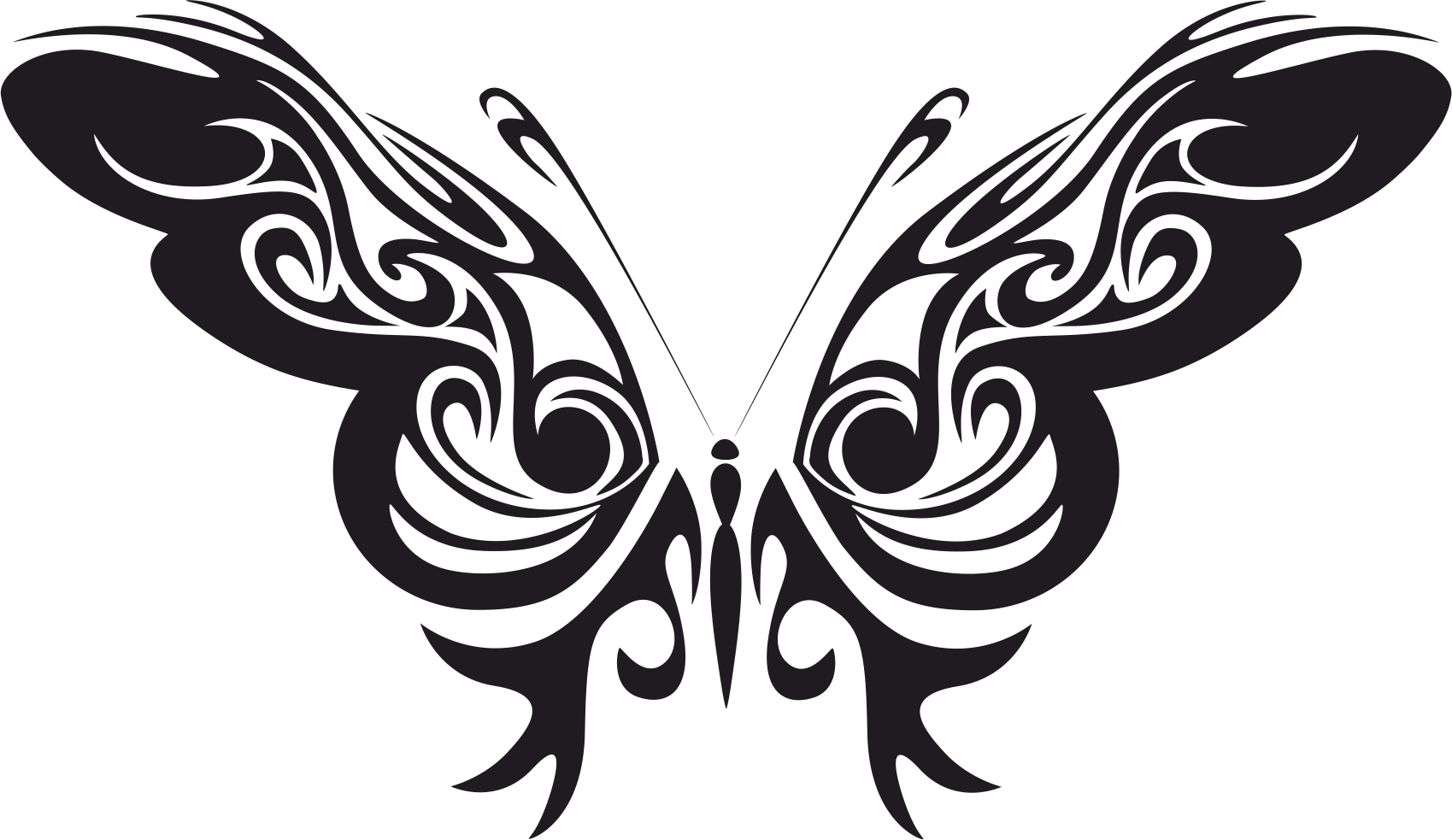 Tribal Butterfly Vector Art Free Vector #155552 - PNG Images