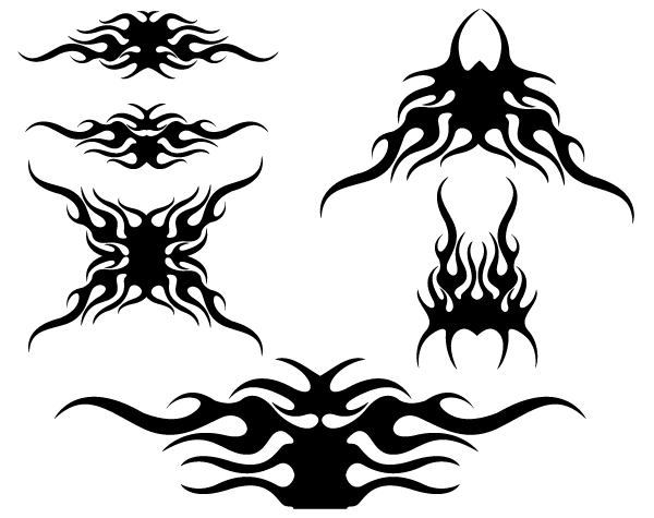 Tribal Flame Png Free - Tribal Flames Vector Design