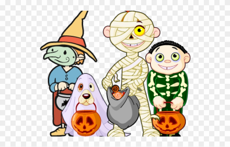 Halloween Trick Or Treat Clipart.Trick Or Treat Clipart Toddler Halloween Party Costume Coloring 2491390 Png Images Pngio